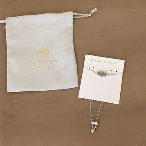 KENDRA SCOTT Elaina Silver Drusy Bracelet